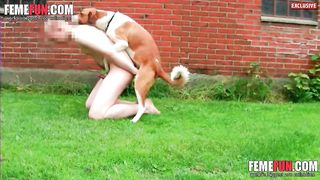[ OMG! Found video of  my hubby having fun with dog ] Offer to take joy by the fuck of dog