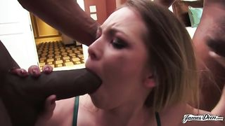 Interracial BBC DP with Angel Smalls