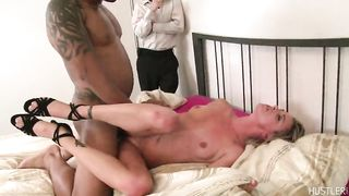 "Cuckold ""milf wife"" gets banged in front of husband"