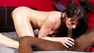 Horny milf cuckolds her lewd hubby and fucks with a strong black fellow