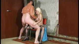 Blonde mastix pegs unrepining fellow