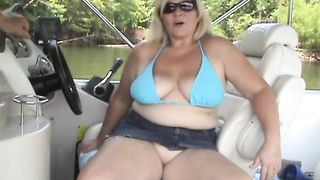 Blonde Cheating Slut Wife Granny on Boat