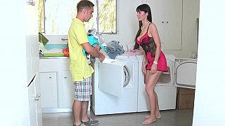 Buxom milf and her daughter satisfy a horny young guy by an excellent blowjob