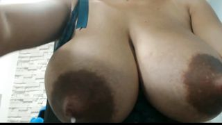 Big Tits Slut Wife Naked And Masturbates On Couch