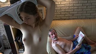 [ HomeMade Incest Movies XXX ] Incredible sweet granddaughter fucking with her grandpa at home