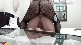 Homemade strapon sex! Femdom Humiliation strapon