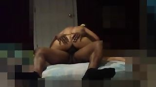 Blonde wife interracial bedroom sex! wife cuckolds husband with BBC in bedroom