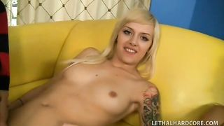 Busty milf and her glamorous daughter give double dick sucking and enjoy pussy licking