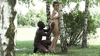 Juicy butt off forgeous babe gets black conqueror