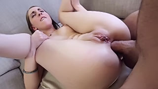 [ Teen Ass To Mouth ]  My sister pulls her thong aside to get her ass pounded