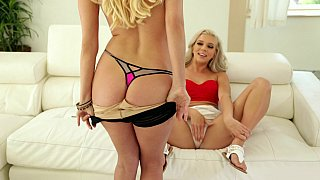 Hot ass daughter undresses and eats her mom's cunt in a POV incest sex video