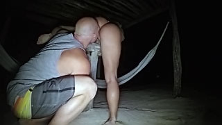 Wife sex on vacation! Beach Sex In The Dark