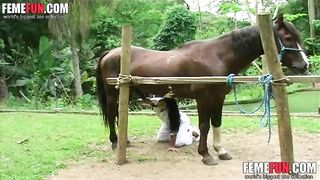 Insane horsesex porn video with a tight mature getting fucked hard