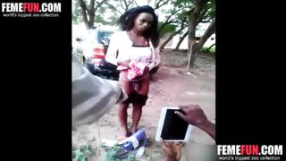 Humiliated Girl Is Forced To Remove Her Panties