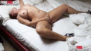 I like jerking off watching this hidden camera video of my wife masturbating
