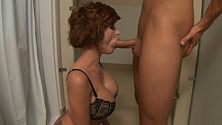 Friends mom sucking my cock