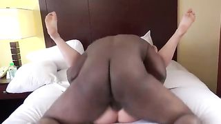 [ Amatuer HomeMade Wife Hard Fuck ]  Feet up Hard Pound - BBC in white Pussy