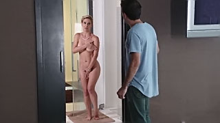 Son fucks busty mom so hard while dad is at work