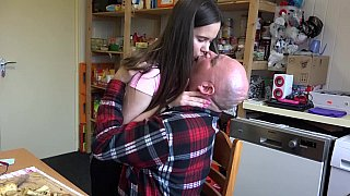 Old father cock for a young daughter  hoe