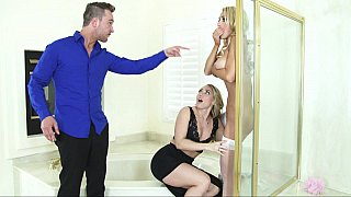 Threesome with a bride - mother daughter pussy