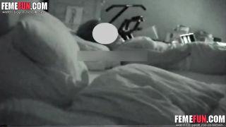 Hidden cam caught my cute mom masturbating not taking off his pajamas