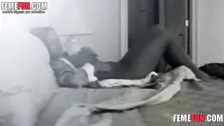 Hidden cam catches my kinky wife masturbating using a Hitachi vibrator