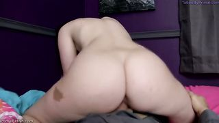 Dad's big booty princess - father cums inside daughter