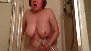 Hidden cam caught - Wife masturbating she pleasing herself with a shower jet