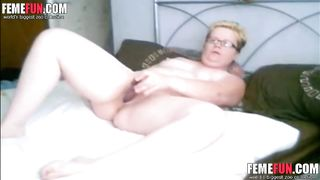 Caught on Hidden Cam! Have a look of my horny mature wife masturbating.