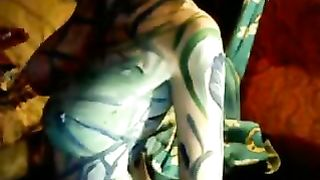 Body painting on cam