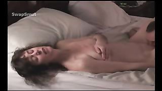 Lover licking out the hotwife watch her body shudder when this babe orgasms
