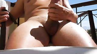 Masturbating outdoors on a chair do u like waht u watch