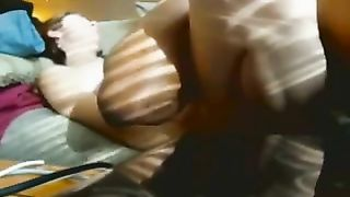 Breeding a whtie Married slut pumping her full of dark goo