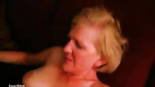 Getting all his dark cum pumped into my well used twat
