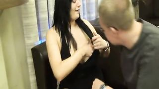 Friend visit to use the amateur wife this babe is well up for it super size boobs