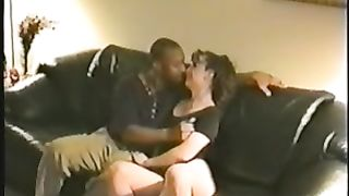 Husband recording his cute wife with dark paramour this babe really horny