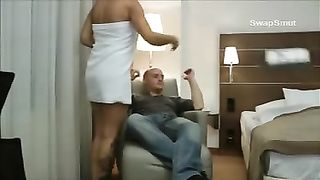 Hot golden-haired milf getting randy in hotel when travelling on business