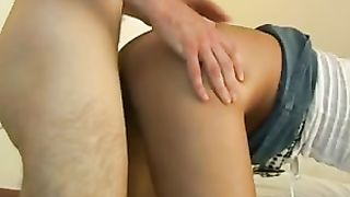 Hot and very hot golden-haired milf on her knees engulfing me off in advance of sex