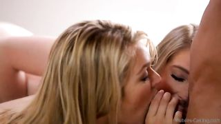 Crazy casting couch action - Real lesbo incest