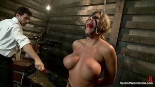 Work on her helpless bound body with rough sex, deep throating and sadistic punishment!