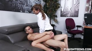 Secretary is a slut! She has a stern boss who wants it his way or no way at all.