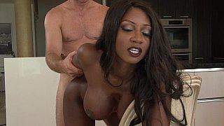 Ebony momy voraciously eats up her stepson thick, tasty cock