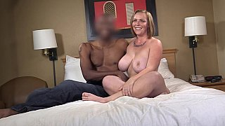 Voluptuous wife cries out in ecstasy while her black lover mangles her pussy apart