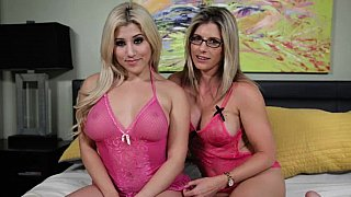 Mom daughter fuck -  Pretty blondes in pink