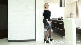 Son touching mom under skirt hot porn - Granny is a teaser