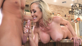 Big titted pervert mom love sucks the big cock her son in the kitchen