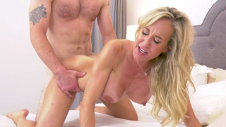 Busty mom on her fours gets pussy pounded with her son