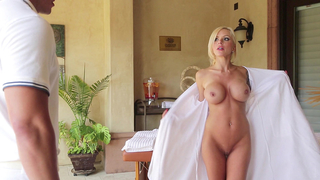 Big boobed bombshell pervert mom seducing the masseur