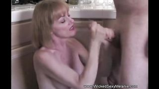 Mom Jerks Off Horny Son Off After College