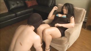[ Mom force son XXX ] She makes Male sub Suck on her Panties